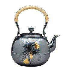 Zhuyintang/竹银堂 纯银 壶 望月形 纯银 葫芦  容量1L 重量 610克 左右图片