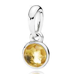 PANDORA/潘多拉 7月水滴925银合成红宝石吊坠390396SRU图片