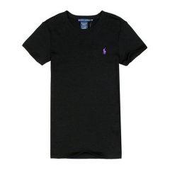 【包税】Ralph Lauren/拉夫劳伦  女士薄款纯色圆领短袖T恤 4470-3132图片