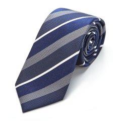 By Creations Lite/柏品 桑蚕丝优雅商务正装领带 男士拼色斜条纹领带礼盒装图片
