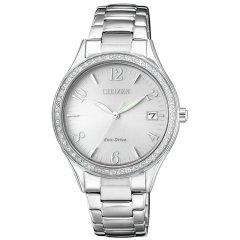 Citizen/西铁城 女士手表 光动能 时尚精致 女表 水晶腕表 EO1183-84X图片