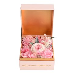 JoyFlower情人节进口永生花礼盒生日礼物莫奈花园图片