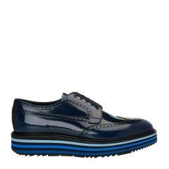 【极速发货】 18年春夏 PRADA 小牛皮男士商务鞋 GS-15464 皇家蓝 英码7 皇家蓝 英码7图片