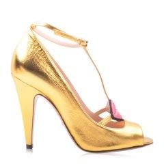 GUCCI/古驰 女士牛皮红唇一字带鱼嘴高跟凉鞋431027图片