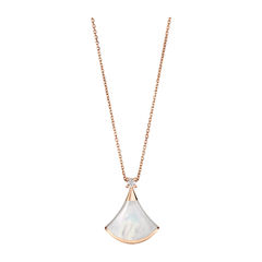 BVLGARI/宝格丽 DIVA系列女士18K玫瑰金/钻石双面佩戴项链图片