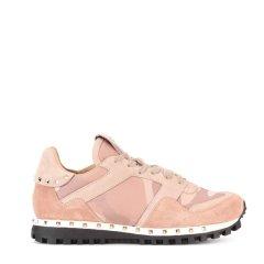 Valentino/华伦天奴 迷彩蕾丝拼接铆钉女士休闲运动鞋图片