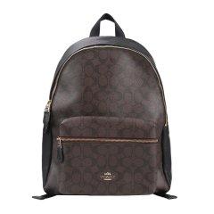 COACH/蔻驰 女士PVC配皮时尚C纹标识大号双肩包背包旅行包女包 多色可选图片