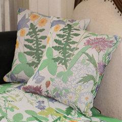 瑞典ekelund 绿色纯棉沙发垫 组合沙发防滑坐垫子定制四季通用图片