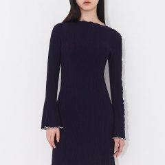 PORTSPURE/PORTSPURE2019春夏新款珍珠装饰镂空吸睛长袖设计针织女士连衣裙RN8K151CKE002图片