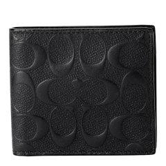COACH/蔻驰 男士Saffiano皮革 短款钱包钱夹 75363图片