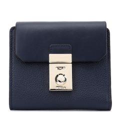 【Designer Bags】FURLA/芙拉牛皮革牛剖层革材质金属锁扣装饰女士短款钱包图片