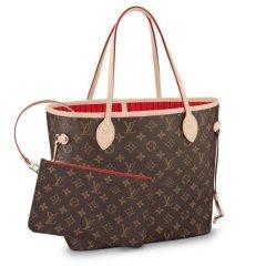 【包邮包税】LouisVuitton/路易威登NEVERFULLMM号中号子母购物袋PVC/配皮女士单肩包  M41177图片