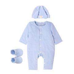 Anne Geddes/安妮.格迪斯  婴幼儿小兔子天鹅绒夹棉加厚款连体衣礼盒装 154003 男宝女宝图片