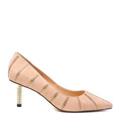 BENATIVE/本那2018春夏新品尖头细跟高跟鞋 时尚大气浅口女士跟鞋图片
