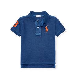 Ralph Lauren/拉夫劳伦 大马标纯棉翻领短袖婴幼儿T恤 393757图片