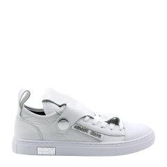 【17秋冬】 ARMANI JEANS/阿玛尼牛仔 皮革 时尚 系带 白色 女士休闲运动鞋 GIG图片