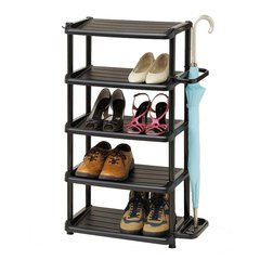 新品利快鞋收纳架Izumi日本进口玄关5层鞋架置物架鞋整理架雨伞杂物收纳架 (大小款)图片