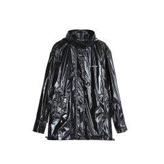 MO&Co./摩安珂女士皮衣MOCO2018秋季新品字母印花漆皮风衣外套MA183JKT119图片