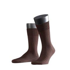 FALKE德国鹰客Bristol Pure羊毛条纹时尚商务休闲中筒男袜14415图片