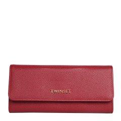 TWINSET/TWINSET女士皮革荔枝纹长款钱包手拿包 黑色图片