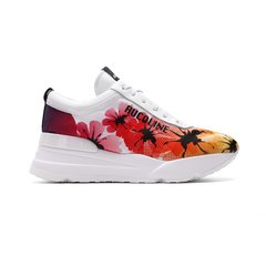RucoLine/RucoLine 19春夏新品 花卉图案低帮系带女士休闲运动鞋图片