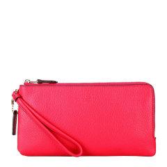 COACH/蔻驰 女士红色真皮长款手拿包零钱包 F54056图片