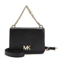 MICHAEL KORS/MK 19春夏 包袋 女包  Mott大号链条装饰皮质单肩包 30T7GOXL7L 黑色手提包 斜挎包图片
