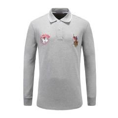 U.S.POLO.ASSN/U.S.POLO.ASSN美国马球协会男长袖POLO衫时尚品牌绣花休闲男士长POLO图片