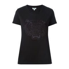 KENZO/高田贤三 短袖圆领虎头纯棉女士T恤F652TS图片