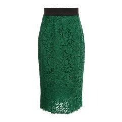 Dolce&Gabbana/杜嘉班纳女士半裙-女士浅绿包臀半身裙面料:46棉43粘纤11锦纶里料:86桑8棉4氨纶2锦纶图片