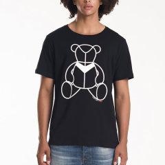 iHubb/iHubb 植绒月熊公仔  男士短袖T恤图片