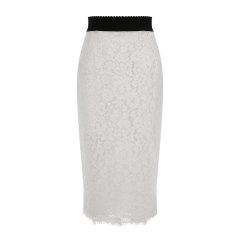Dolce&Gabbana/杜嘉班纳女士半裙-女士白色包臀半身裙面料:46棉43粘纤11锦纶里料:86桑8棉4氨纶2锦纶图片
