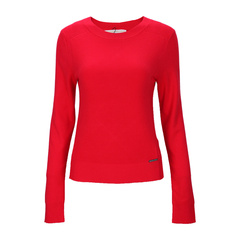 【Designer Womenwear】Michael Kors/迈克·科尔斯 红色混合材质条纹肌理短款女针织衫,MU56MJ78T8,611,M 断码图片