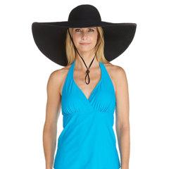 Coolibar 多国防晒机构认证  可折叠防变形超宽帽檐女士遮阳帽 UPF50+图片