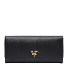 PRADA/普拉达 女士经典牛皮长款按扣钱夹钱包1MH132图片