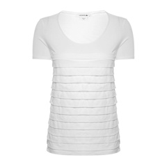 Lacoste/鳄鱼女士深蓝色短袖套头女士T恤图片