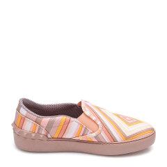 Valentino/华伦天奴桔色帆布材质拼色条纹元素女士平跟鞋,KW2S0782CNE K10 WOMEN SHOES 36图片