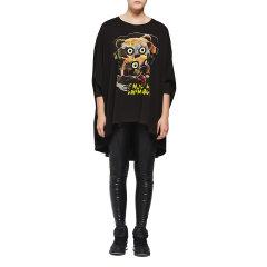 D-MOP Loveis/Loveis 秋季新款女装 七分袖蝙蝠袖T恤 全棉休闲上衣 女士T恤图片