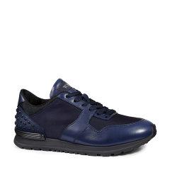 Tod's/托德斯男士深蓝色男士运动鞋牛皮拼高科技面料运动鞋图片