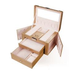 OC/开合首饰盒公主 韩国木质化妆盒手链项链首饰收纳盒饰品盒图片