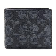 COACH/蔻驰   男款时尚PVC短款钱包图片