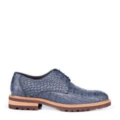 【买赠】CHARRIOL/夏利豪 牛皮革 单鞋 布洛克鳄鱼纹 男士商务鞋图片