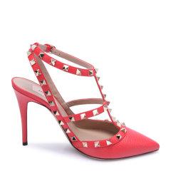 Valentino/华伦天奴·格拉瓦尼红色牛皮材质经典铆钉装饰女士女士凉/拖鞋,S0393VCE2903655 D28 WOMAN SHOES 39图片
