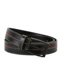 HUGO BOSS/雨果波士腰带-男士绿牌黑色彩线皮带图片