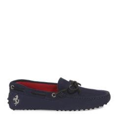 Tod's/托德斯 女士Tod's for Ferrari法拉利跃马标志黑色小羊皮豆豆鞋低/中跟鞋图片