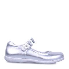 Eurobimbi欧洲宝贝立体花朵粘袢公主鞋适合4.5-9岁EB1601P008图片