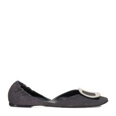 Roger Vivier/罗杰·维维亚女士 女鞋 平跟鞋灰色小山羊皮低/中跟鞋芭蕾舞鞋图片
