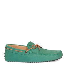 Tod's/托德斯男士绿色男士休闲鞋哑光牛皮豆豆鞋图片