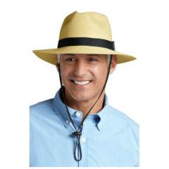 Coolibar 多国防晒机构认证 专利透气宽檐可折叠男士 费朵拉绅士帽 UPF50+图片