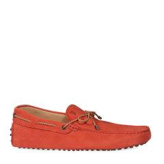 Tod's/托德斯男士红色男士休闲鞋哑光牛皮豆豆鞋图片